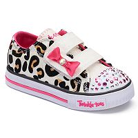 Skechers Twinkle Toes Shuffles Sparkle Sass Toddler Girls' Light-Up Shoes