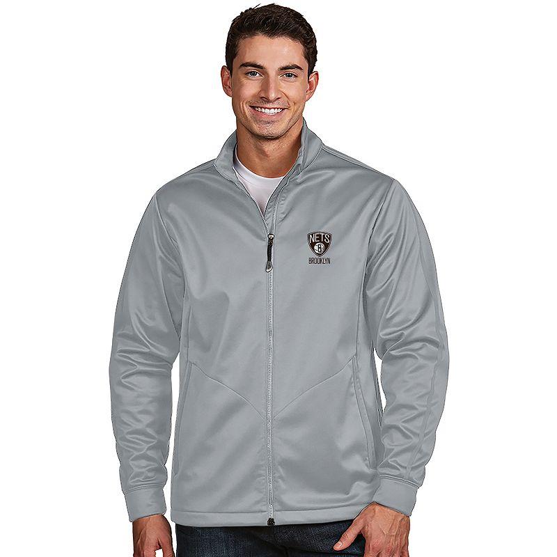 Men's Antigua Brooklyn Nets Golf Jacket. Size: Small. Grey