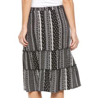 Women's Studio 253 Tiered Midi Skirt