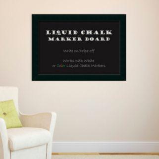 Amanti Art Large Corvino Black Finish Framed Liquid Chalkboard Wall Decor