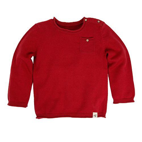 Baby Boy Burt's Bees Baby Organic Pocket Sweater