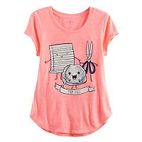 Girls 7-16 & Plus Size SO® Rolled Cuff Graphic Tee