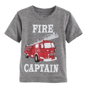 "Toddler Boy Jumping Beans® ""Fire Captain"" Fire truck Graphic Tee"