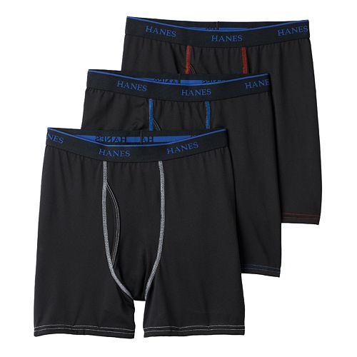 Boys Hanes 3-Pack X-Temp Lightweight Performance Boxer Briefs