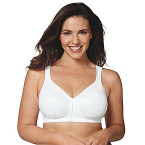 Playtex Bras: 18 Hour Posture Boost Full-Figure Wire Free Front Closure Bra USE525