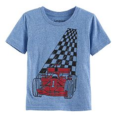 Toddler Boy Jumping Beans® 'Checked Race Car Graphic Tee