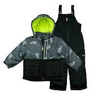 Baby Boy OshKosh B'gosh® Heavyweight Abstract Jacket & Bib Overall Snow Pants Set