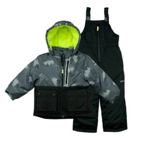 Baby Boy OshKosh B'gosh® Heavyweight Abstract Jacket & Bib Overall Snow Pants Set