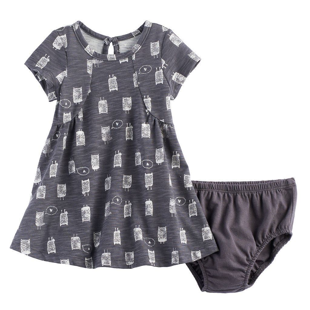 Baby Girl Jumping Beans® Curved Seam Dress