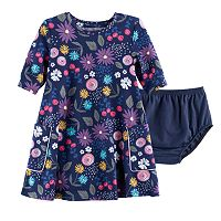 Baby Girl Jumping Beans® Print Swing Dress