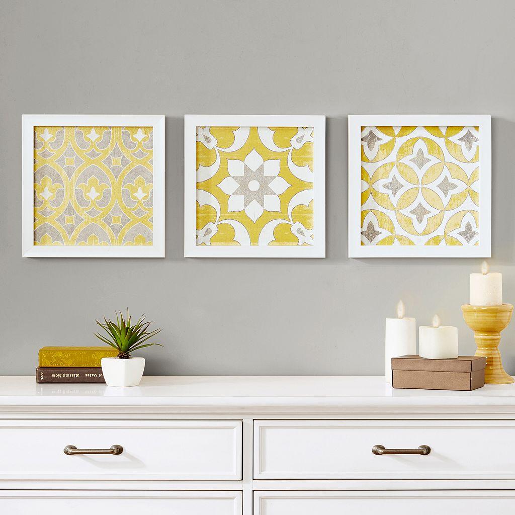 Madison Park Tuscan Tiles Framed Wall Art 3-piece Set