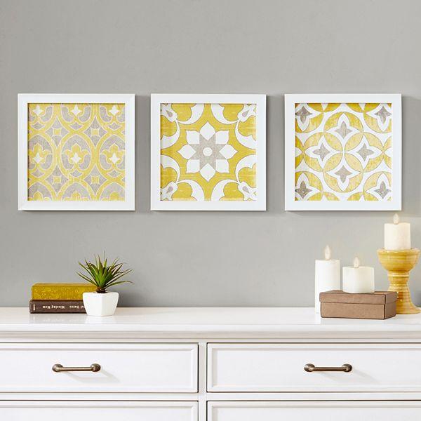 Madison Park Tuscan Tiles Framed Wall Art 3 Piece Set