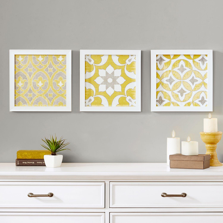 Madison Park Tuscan Tiles Framed Wall Art 3 Pc Set