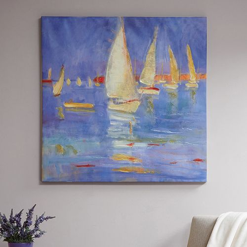Madison Park Signature Sailing In Color Canvas Wall Art