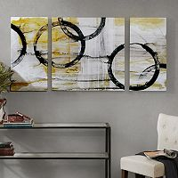 Madison Park Lunar Glow Canvas Wall Art 3-piece Set