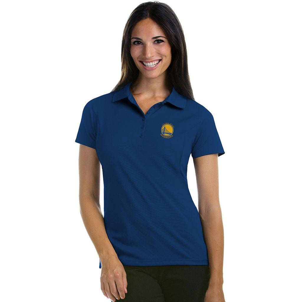 Women's Antigua Golden State Warriors Pique Xtra-Lite Polo