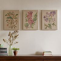 Madison Park Botanicals Linen Wall Art 3 pc Set