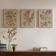 Madison Park Botanicals Linen Wall Art 3-piece Set