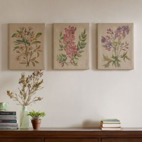 Madison Park Botanicals Linen Wall Art 3-piece Set
