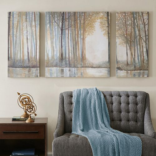 Madison Park Forest Reflections Canvas Wall Art 3 Piece Set