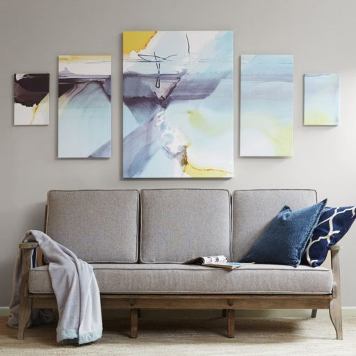 Madison Park Blue Skies Ahead Canvas Wall Art 5-piece Set