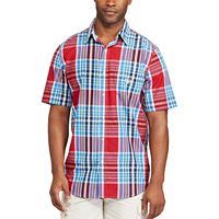 Big & Tall Chaps Classic-Fit Plaid Easy-Care Button-Down Shirt