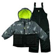 Toddler Boy OshKosh B'gosh® 2 pc Colorblocked Jacket & Bib Overall Snow Pants Set
