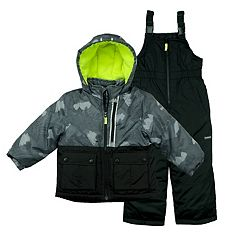 Toddler Boy OshKosh B'gosh® 2 pc Colorblocked Jacket & Bib Overall Snow Pants Set