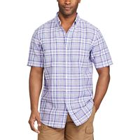Big & Tall Chaps Classic-Fit Plaid Linen-Blend Button-Down Shirt