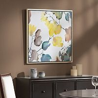 Madison Park Signature Autumn Watercolor Leaves Framed Wall Art