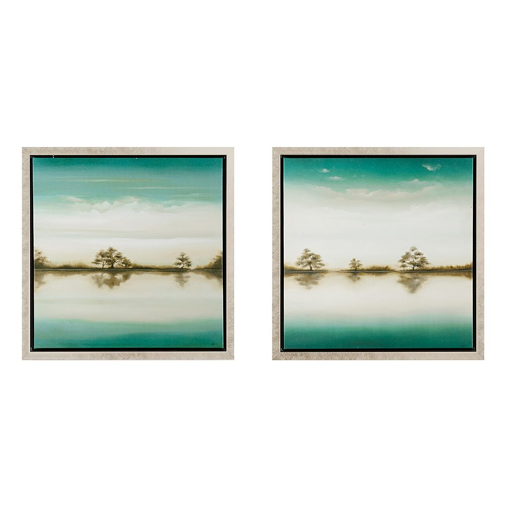 Madison Park Signature Tranquil Trees Framed Wall Art 2-piece Set