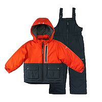 Toddler Boy OshKosh B'gosh® Colorblock Heavyweight Jacket & Bib Snowpants Set