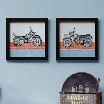 Intelligent Design Racing Motos Framed Wall Art 2-piece Set