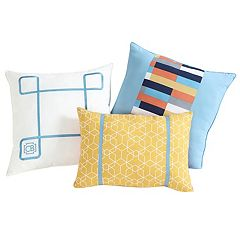 VCNY 3-piece Geometric Clairebella Throw Pillow Set