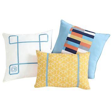 VCNY 3-piece Geometric Clairebella Throw Pillow Set