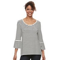 Women's Croft & Barrow® Bell Sleeve Peasant Top