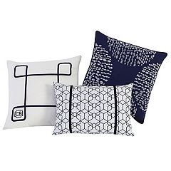 VCNY 3 pc Fractal Clairebella Throw Pillow Set