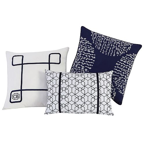 VCNY 3-piece Fractal Clairebella Throw Pillow Set