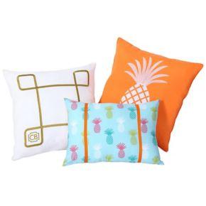 VCNY 3-piece Tropical Clairebella Throw Pillow Set