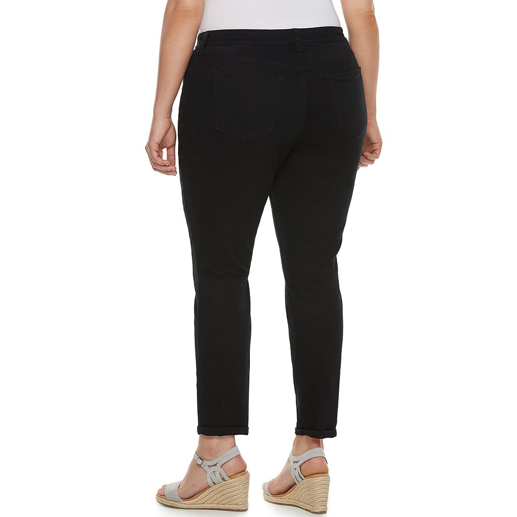Plus Size SONOMA Goods for Life™ Curvy Fit Sateen Skinny Pants