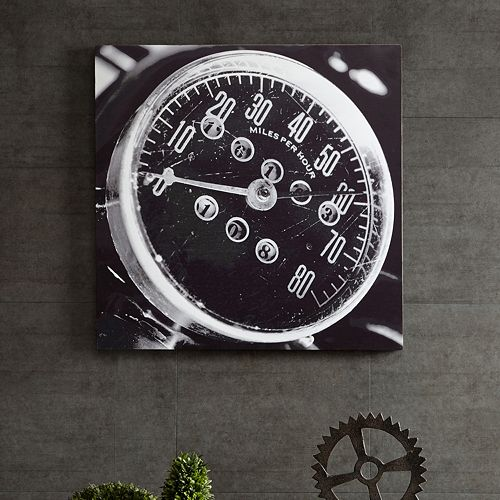 INK+IVY Speedometer Box Wall Art
