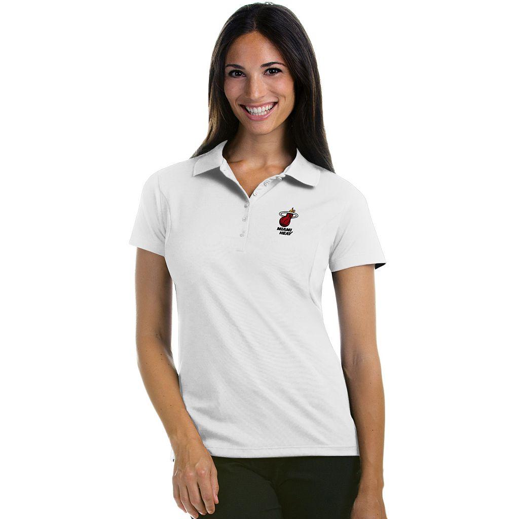 Women's Antigua Miami Heat Pique Xtra-Lite Polo