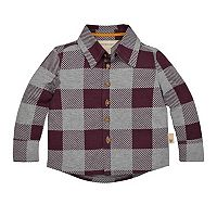 Toddler Boy Burt's Bees Baby Organic Buffalo Checked Shirt