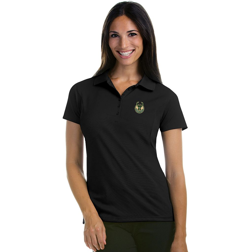 Women's Antigua Milwaukee Bucks Pique Xtra-Lite Polo