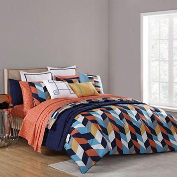 VCNY 2-piece Geometric Clairebella Comforter Set