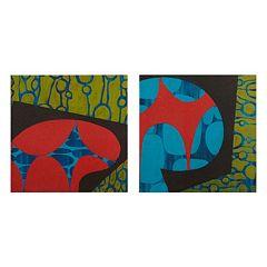 INK+IVY Modern Pop Canvas Wall Art 2 pc Set