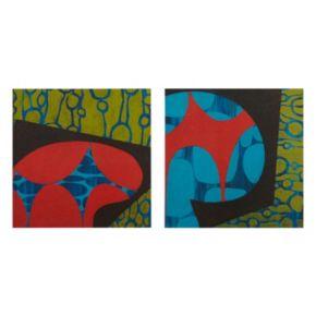 INK+IVY Modern Pop Canvas Wall Art 2-piece Set