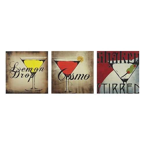 INK+IVY Happy Hour Canvas Wall Art 3-piece Set