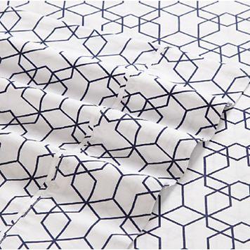 VCNY 4-piece Fractal Clairebella Print Sheet Set