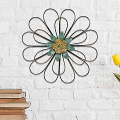 Stratton Home Decor Wire Flower Wall Decor